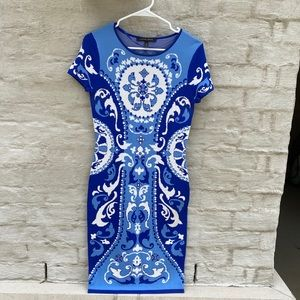 Cynthia Steffe Fitted Blue Dress